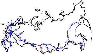 R256 highway (Russia) - Image: M52 karte RF