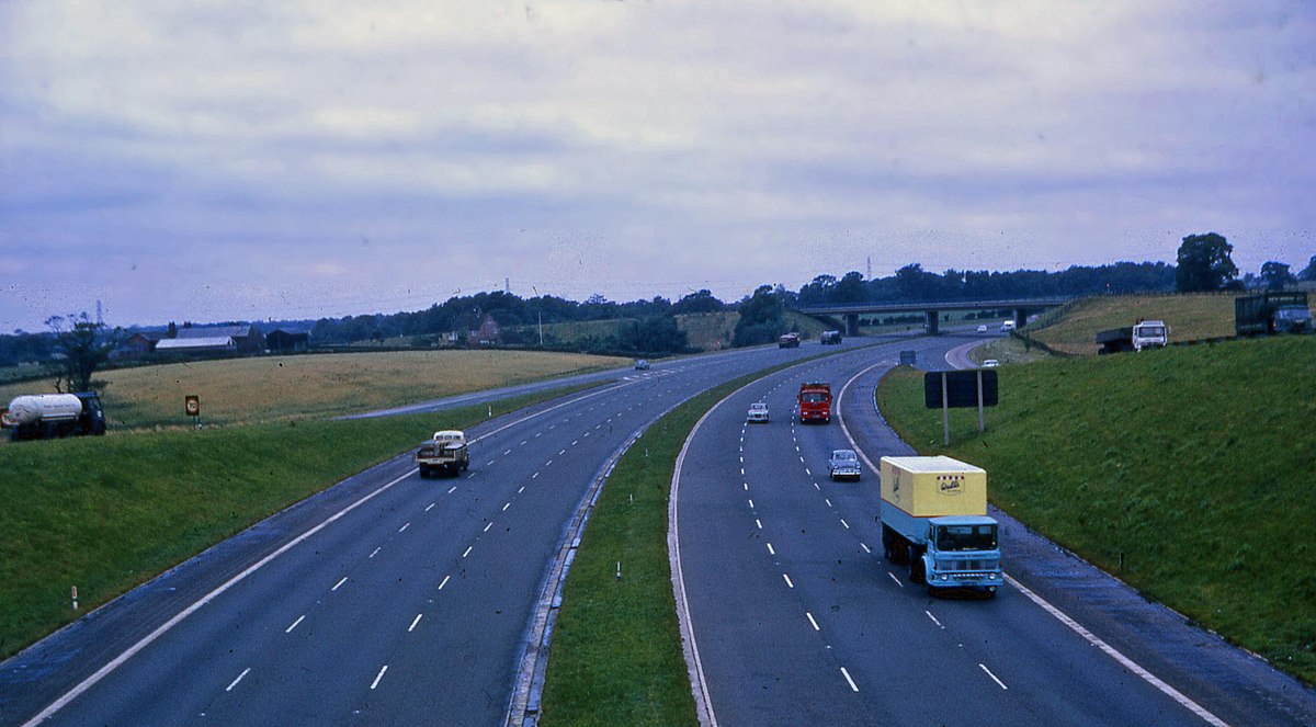Historical photos of motorways and roads in your country