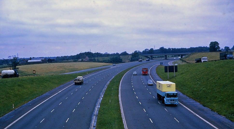 M6 motorway, Cheshire, 1969