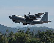 MC-130P Combat Shadow on humanitarian mission