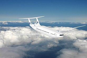 Boeing New Midsize Airplane - The Aurora D8 concept has a double bubble fuselage
