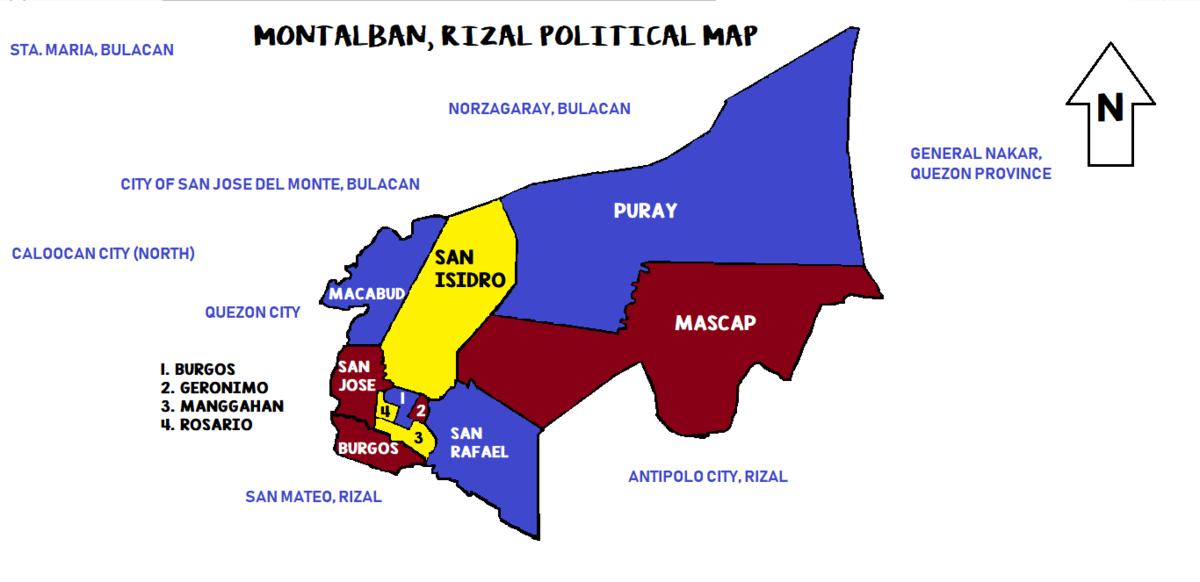 Montalban Barangay Map