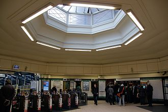 Morden tube station - Octagonal ticket hall and roof light