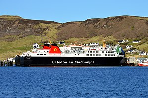 MV Isle of Lewis - Image: MV Isle of Lewis At Uig, Skye, 9 May 2015