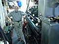 MV Westward - Hugh Reilly in engine room 01.jpg