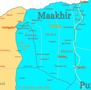 Maakhir - Map of Maakhir.