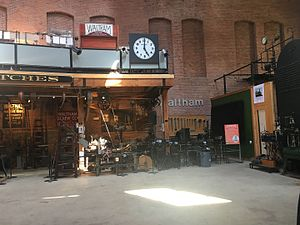 Charles River Museum of Industry & Innovation - Museum interior; Waltham Watch gallery is on mezzanine.