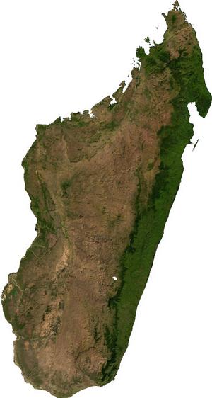 Geography of Madagascar - Satellite image of Madagascar