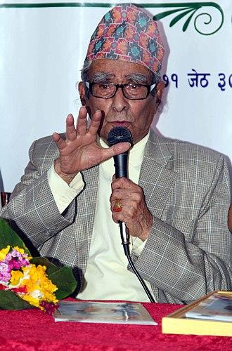 Madhav Prasad Ghimire -  Nepali poet and scholar Madhav Prasad Ghimire.