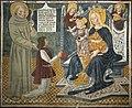 Madonna con Bambino, due angeli e San Francesco che presenta il committente - Abside dell'Oratorio di Santa Maria - Garbagna Novarese.jpg