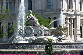 History of Madrid - The fountain of Cybele, from 1792, at Plaza de Cibeles.