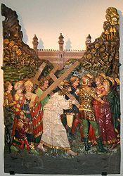 Le Christ sur le chemin du Calvaire, Maestro di Trognano , fin du XVesiècle, Castello Sforzesco, Milan