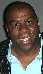 head shot of Magic Johnson