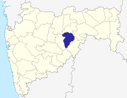 Location of Hingoli district in Maharashtra
