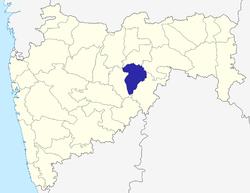 మహారాష్ట్ర పటంలో హింగోలీ జిల్లా స్థానం