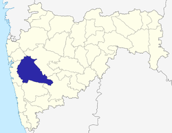 Location of Pune district in Maharashtra
