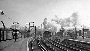 Maidstone West railway station - Maidstone West railway station in 1958