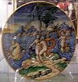 Maiolica di pesaro, pittore dello stemma mazza, nettuno e anfitrite, 1550-60.jpg
