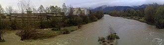 Malone (river) - Malone creek after heavy rains in Brandizzo (autumn 2010)