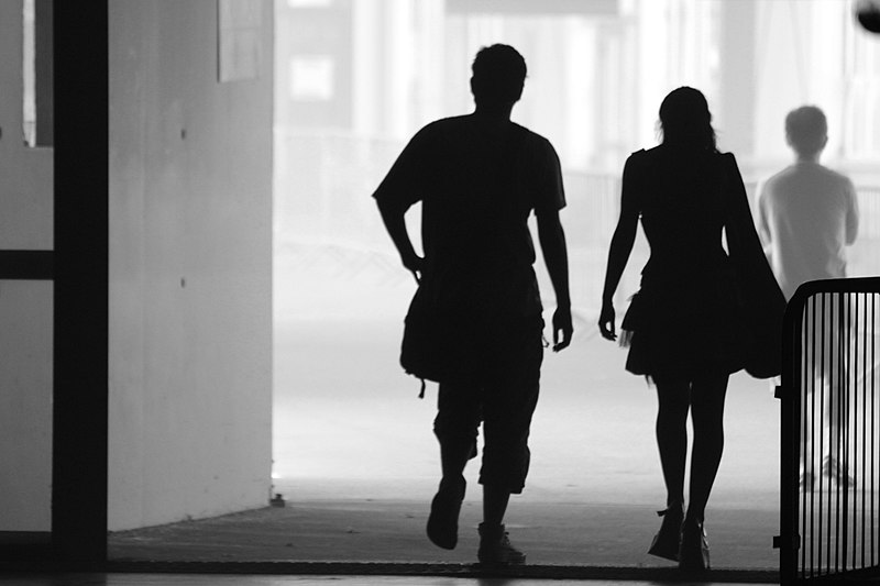 File:Man and woman silhouettes.jpg