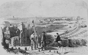 Richard Taylor (general) - Manassas Junction, looking towards Bull Run and Centreville, Civil War-era drawing by Edwin Forbes