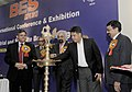 Manish Tewari lighting the lamp to inaugurate the Broadcast Engineering Society (India) Expo- 2013 and 19th International Conference & Exhibition on Terrestrial and Satellite Broadcasting, organized by BES (India).jpg