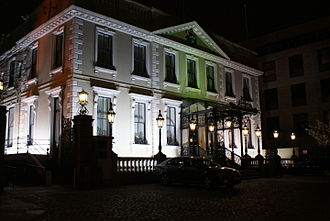 Mansion House, Dublin - The Mansion House at night.