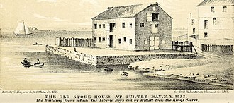 Marinus Willett - The Old Store House at Turtle Bay, from which the Liberty Boys, led by Willett took the King's stores.