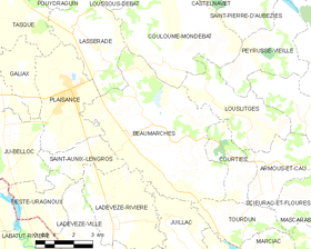 Map commune FR insee code 32036.png