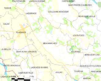 Beaumarchés - Beaumarchés and its surrounding communes