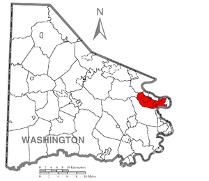 Carroll Township, Washington County, Pennsylvania - Image: Map of Carroll Township, Washington County, Pennsylvania Highlighted