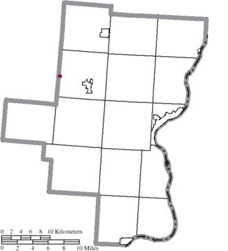 Centerville, Gallia County, Ohio - Image: Map of Gallia County Ohio Highlighting Centerville Village
