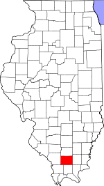 Map of Illinois highlighting Williamson County.svg