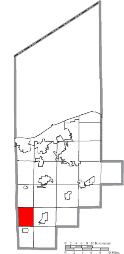 Location of Brighton Township in Lorain County