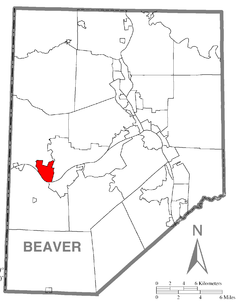 Location of Midland in Beaver County
