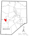 Map of Midland, Beaver County, Pennsylvania Highlighted.png