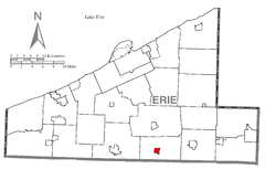 Map of Mill Village, Erie County, Pennsylvania Highlighted.png