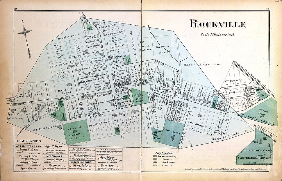 Map of Rockville 1879