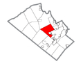 Map of South Whitehall Township, Lehigh County, Pennsylvania Highlighted.png