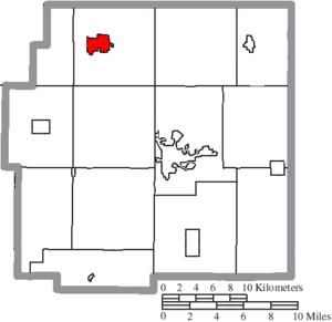 Carey, Ohio - Image: Map of Wyandot County Ohio Highlighting Carey Village