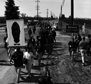 Harvey Richards - March to Sacramento Begins. March 1966, Delano, California. Photo by Harvey Richards.