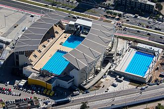 Maria Lenk Aquatics Center - Aerial view of Maria Lenk Aquatic Center