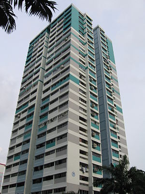 Marine Parade - A typical point block in Marine Parade