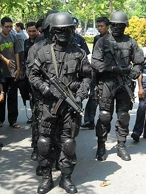 Malaysian UNGERIN anti-terror-police