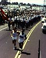 Marines and Olympics Torch Bearer, 1984 (7629334460).jpg