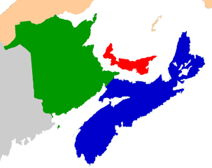 Politische Karte der kanidischen Seeprovinzen