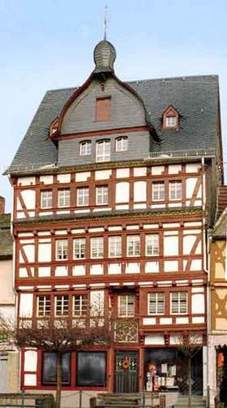 Adenau - 1630 Fachwerk house in marketplace