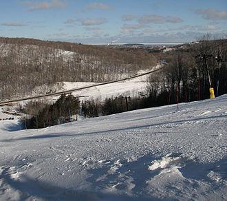 Marquette Mountain - Image: Marquette ski 1