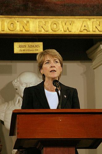 Martha Coakley - Coakley speaking at Faneuil Hall in 2007