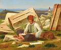 Martinus Rørbye - Græsk skrivende dreng - 1838.png